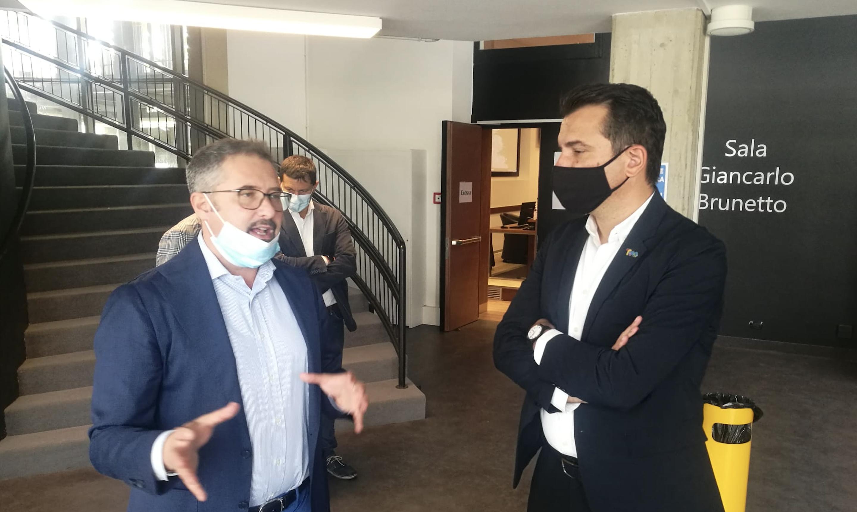 Erion Veliaj Sindaco Tirana Matteo Gasparato Stefano Casali Consorzio ZAI Interporto Quadrante Europa